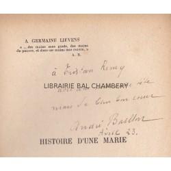 Histoire d'une Marie   Préface de Charles Vildrac  Deuxième édition