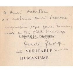 """Le véritable humanisme  """" Propos sur la culture littéraire et scientifique"""