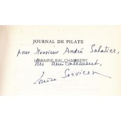 Journal de Pilate - Roman - Traduit de l'allemand par Louise Servicen