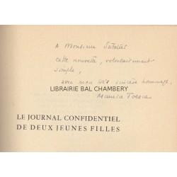 Le journal confidentiel de deux jeunes filles - Frontispice gravé à la pointe sèche de J. Maublanc