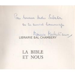 La Bible et nous - Traduit de l'allemand par Maurice Muller-Strauss