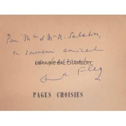 Pages choisies – Précédées de témoignages de R. Lalou – Audiberti – M. Liber – Ch. Vildrac