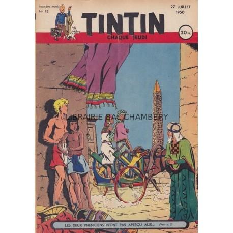 Tintin chaque jeudi, n° 92,  troisième année