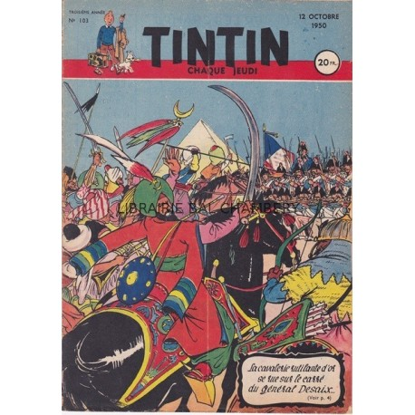 Tintin chaque jeudi,  n°103, troisième année