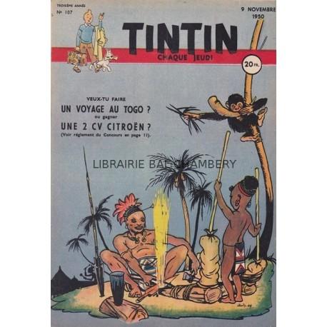 Tintin chaque jeudi, n°107, troisième année