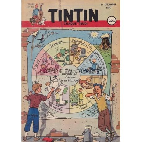 Tintin chaque jeudi,  n°112,  troisième année