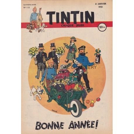 Tintin chaque jeudi,  n°115,  quatrième année