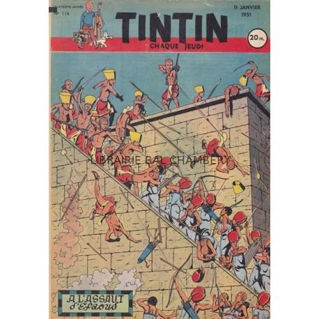Tintin chaque jeudi,  n°116,  quatrième année