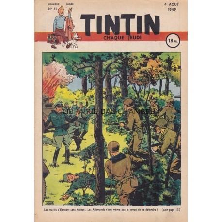 Tintin chaque jeudi, n° 41,  deuxième  année
