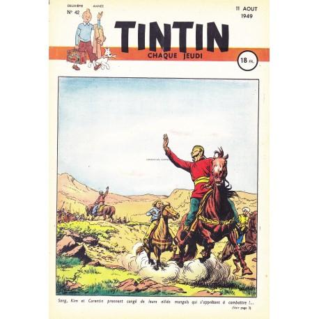 Tintin chaque jeudi, n°42,  deuxième  année