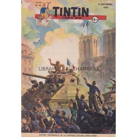 Tintin chaque jeudi,  n°46,  deuxième année