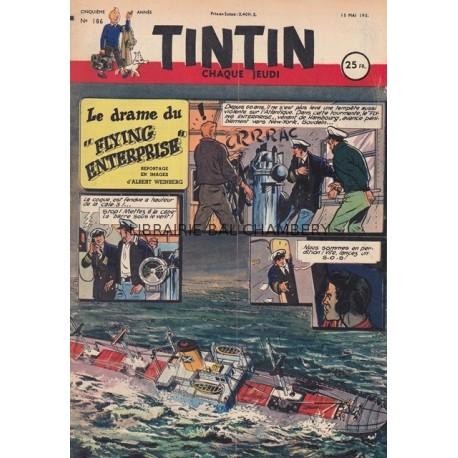Tintin chaque jeudi,  n°186,  cinquième année