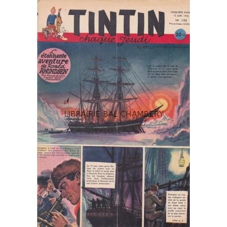 Tintin chaque jeudi,  n° 190,  cinquième année