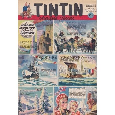 Tintin chaque jeudi,  n°206,  cinquième année