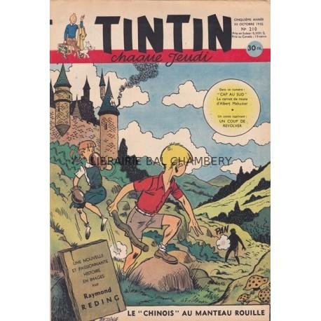 Tintin chaque jeudi,  n°210,  cinquième année