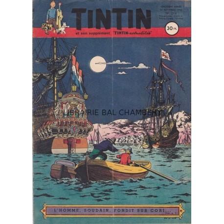 Tintin chaque jeudi,  n°214,  cinquième année
