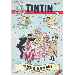 Tintin chaque jeudi,  n° 53,  deuxième année