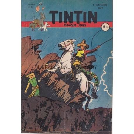 Tintin chaque jeudi,  n° 54,  deuxième année