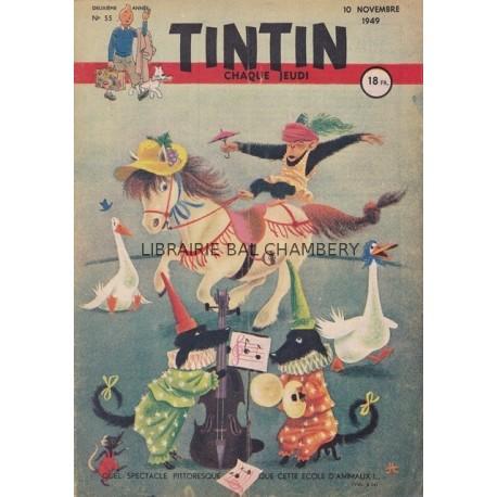 Tintin chaque jeudi,  n° 55,  deuxième année