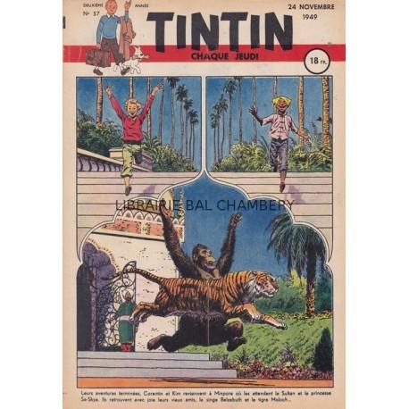 Tintin chaque jeudi,  n° 57,  deuxième année
