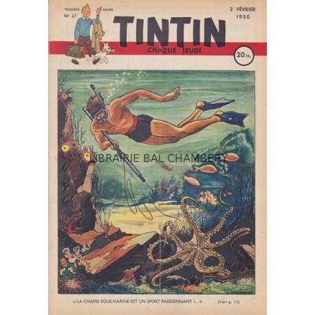 Tintin chaque jeudi,  n° 67,  troisième année