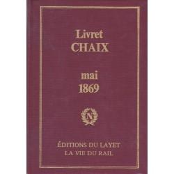 Livret CHAIX - mai 1869