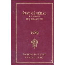 Etat général du service des diligences 1789