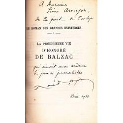 La vie prodigieuse d'Honoré de Balzac