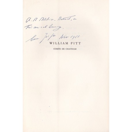 William Pitt - Comte de Chatham - Fondateur de l'Empire Britannique