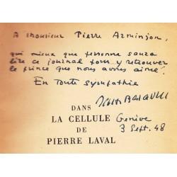 Dans la cellule de Pierre Laval – Mon journal – Lettres et notes de Pierre Laval – Documents inédits – Vingt-trois hors-texte