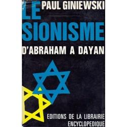 LE SIONISME D'ABRAHAM A DAYAN