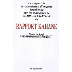 Rapport Kahane Texte intégral et commentaires critiques