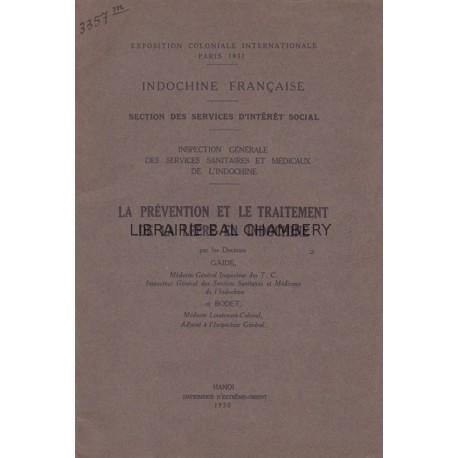 Indochine française - La prévention et le traitement de la lèpre en Indochine