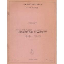 Cours d'histoire maritime 1919 - 1945
