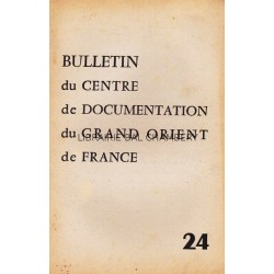 Bulletin du Centre de documentation du Grand Orient de France N° 24
