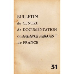 Bulletin du Centre de documentation du Grand Orient de France N° 31