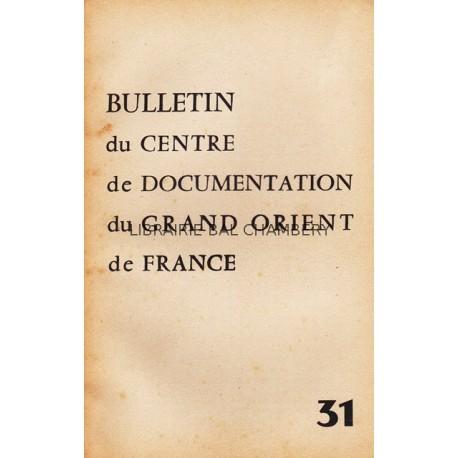 Bulletin du Centre de documentation du Grand Orient de France N° 31