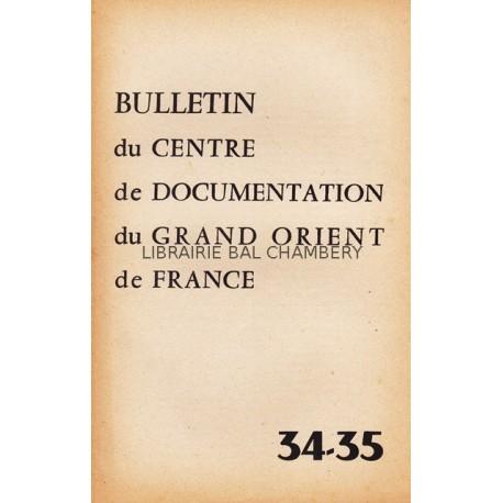 Bulletin du Centre de documentation du Grand Orient de France N° 34-35