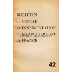 Bulletin du Centre de documentation du Grand Orient de France N° 42