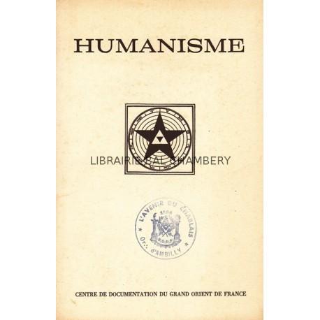 Humanisme Bulletin du Centre de documentation du Grand Orient de France N° 81-82