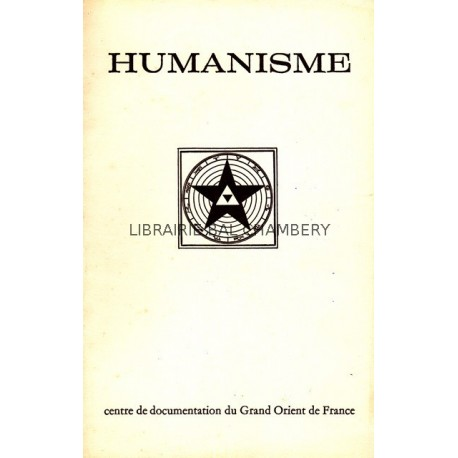 Humanisme Bulletin du Centre de documentation du Grand Orient de France N° 87-88