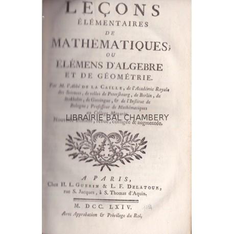 Leçons élémentaires de mathématiques ou élémens d'algebre et de géométrie