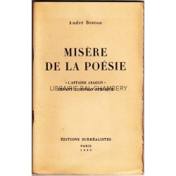 Misére de la poesie. 'L'affaire Aragon' devant l'opinion publique