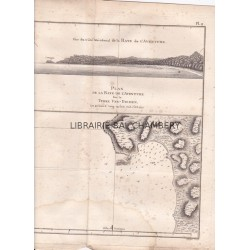 "Gravure n° 9  -"" Terre de Van-Diemen "" - A Voyage to the Pacific Ocean [Third Voyage]"