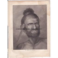 "Gravure n° 11 -""  Un homme de Mangea "" - A Voyage to the Pacific Ocean [Third Voyage]"