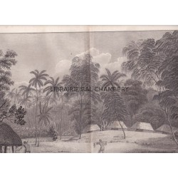 """Gravure n° 21 -""""  Fiatooka ou cimetière de l'isle de Tongataboo """" - A Voyage to the Pacific Ocean [Third Voyage]"""