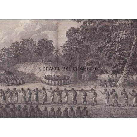 """Gravure n° 22 -""""  Natche, ou grande fête en l'honneur du fils du roi  """" - A Voyage to the Pacific Ocean [Third Voyage]"""