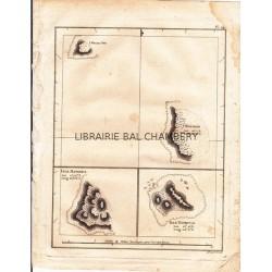 "Gravure n° 24 -""  Isle Wenoota Ette, I. Watteoo, I. Mangeea, I. Toobouai  "" - A Voyage to the Pacific Ocean [Third Voyage]"
