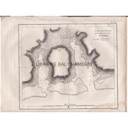 """Gravure n° 30 -""""  Plan des Havres qu'on trouve au côté N. d'Eiméo """" - A Voyage to the Pacific Ocean [Third Voyage]"""