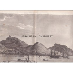 "Gravure n° 31 -""  Vue de Huaheine "" - A Voyage to the Pacific Ocean [Third Voyage]"